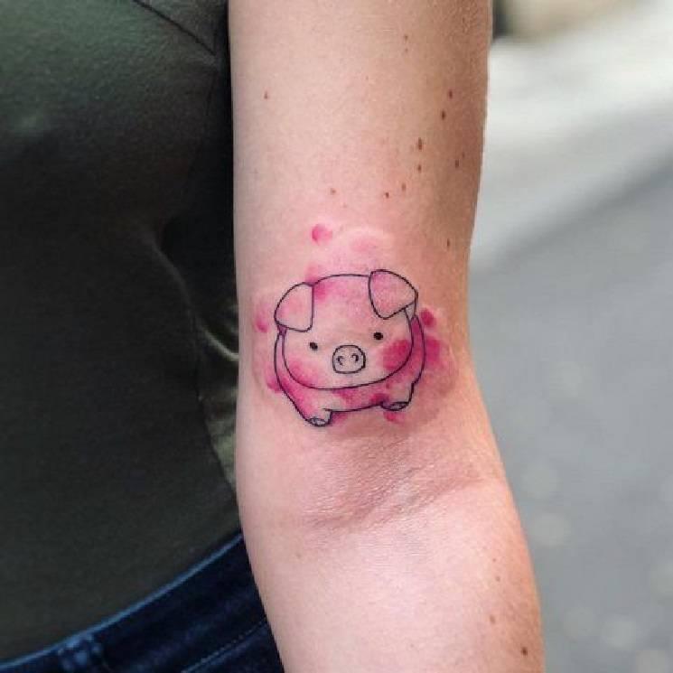 милая хрюша татуировка