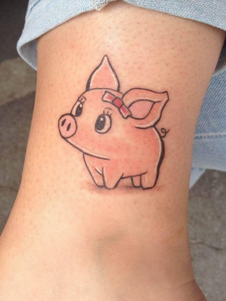 татуировка поросёнка
