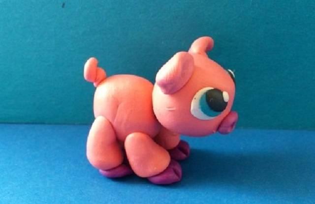 вариант хвостика пластилиновой свинке