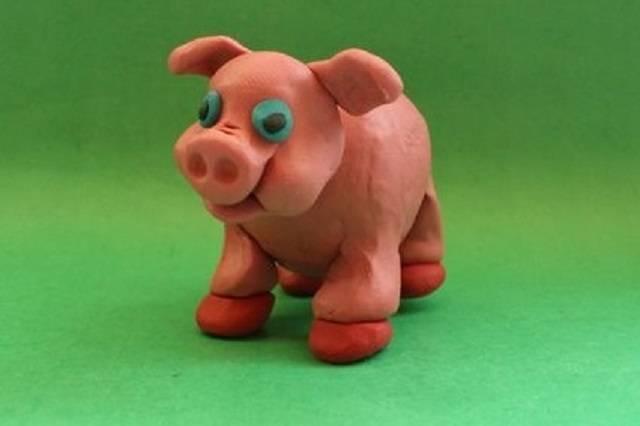 пластилиновая свинья
