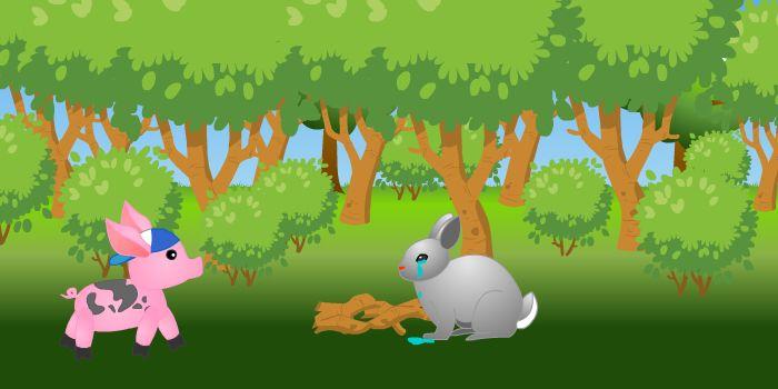 поросёнок и заяц
