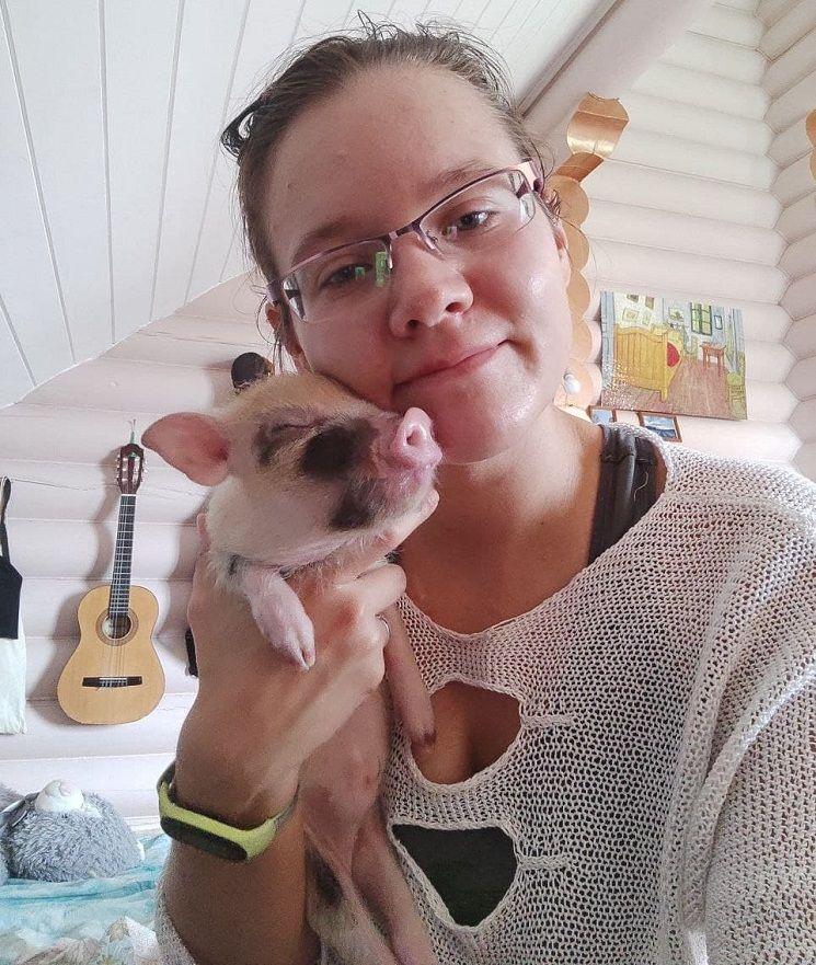 Рекс со свиномамой