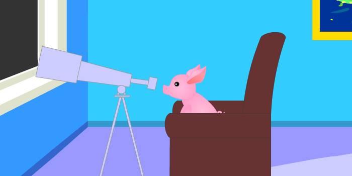 поросёнок и телескоп