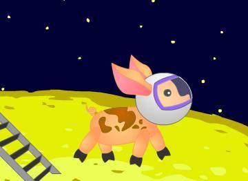 Как поросенок Орлик с роботом Федором полетели на Луну